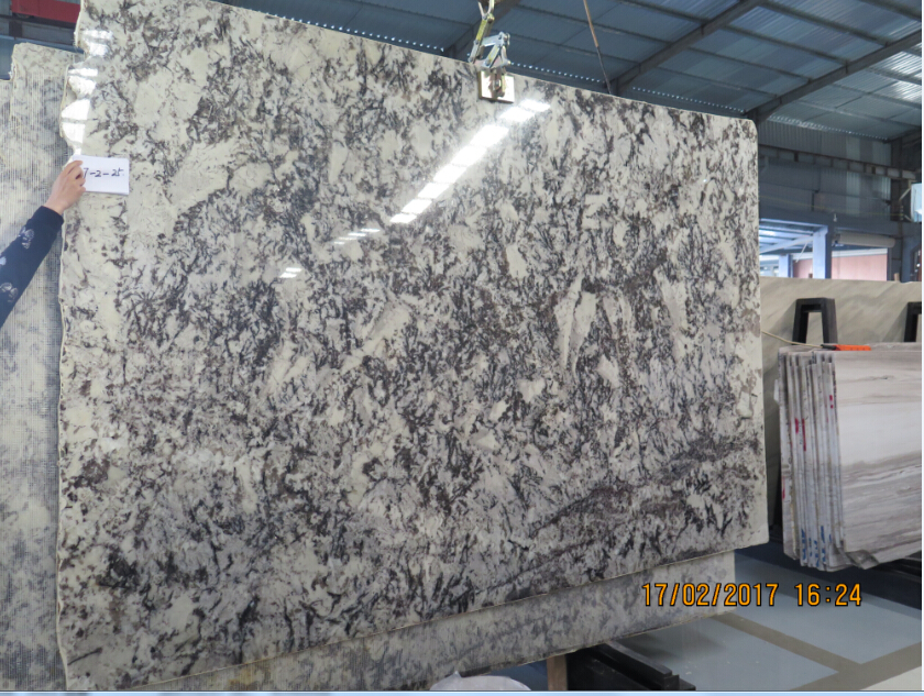 <b>Luxury Peacork White Granite with light effect for count</b>